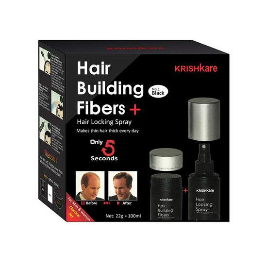 Krishkare Hair Building Fibers (22 G + 100 Ml)