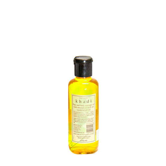 Khadi Face And Body Massage Oil With Sandalwood & Almond Oil (210 Ml)