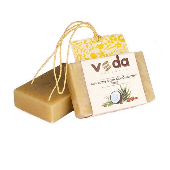 Veda Essence Anti-Aging Argan Aloe Cucumber Soap (125 G)