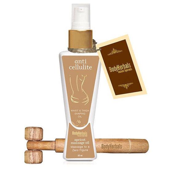 BodyHerbals Ancient Ayurveda Anti Cellulite Aprioct Massage Oil + Free BodyHerbals Ancient Ayurveda Wooden Massager (50 Ml)15